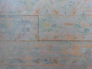 Original stencil on floor of Folsom House
